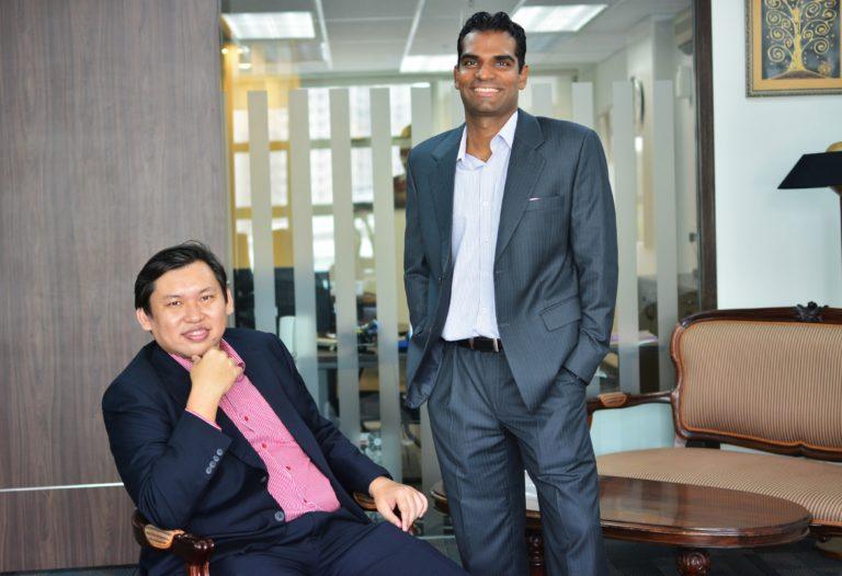 Koh Mui Han, CEO of DraVA and Shanmuga Pillaiyan, CTO of DraVA