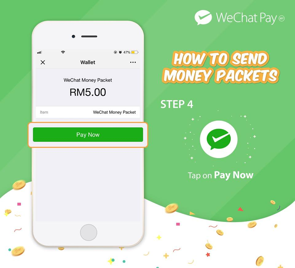 wechat pay malaysia launch money packet 4