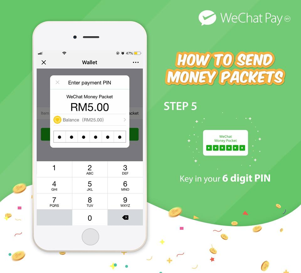wechat pay malaysia launch money packet 5