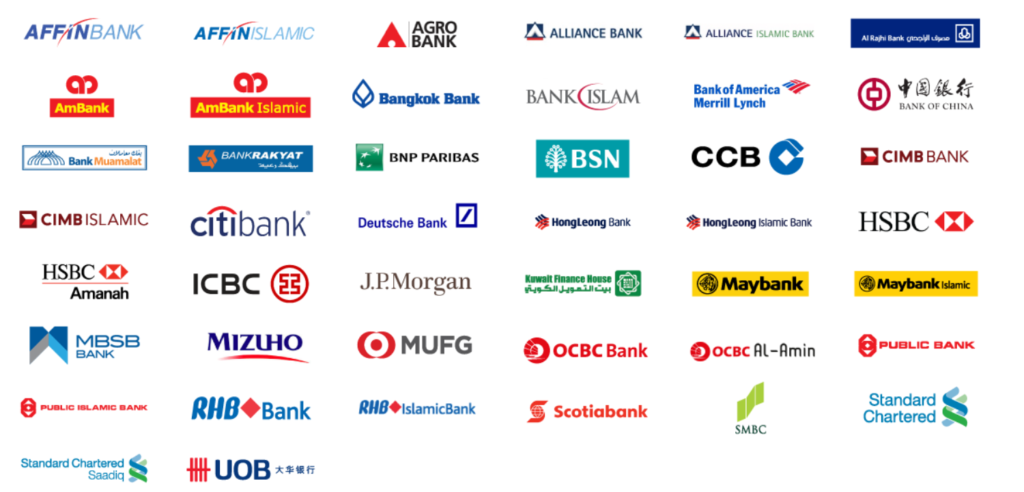 duitnow bank accounts participating