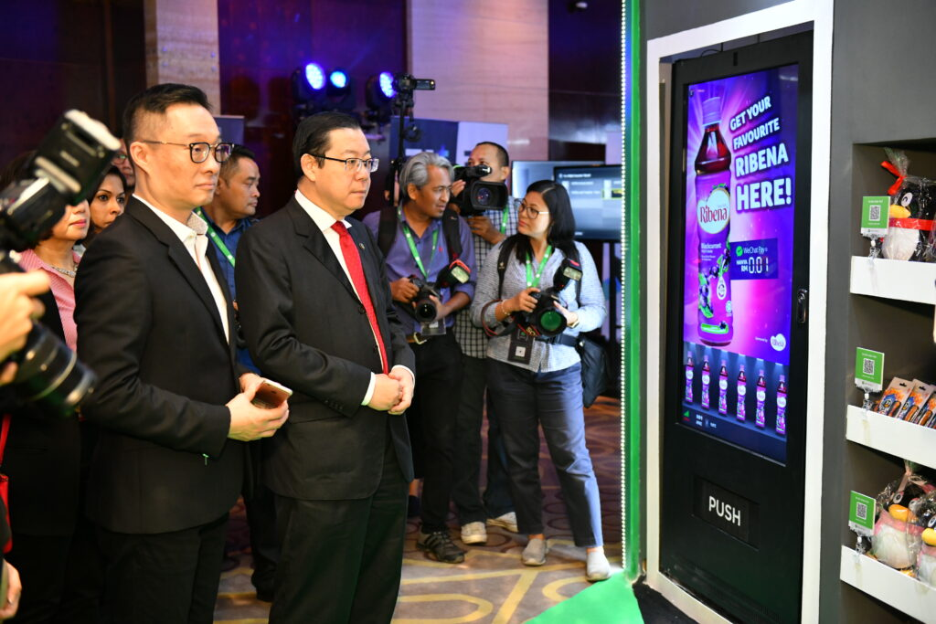 wechat pay vending machine digital lim guan eng